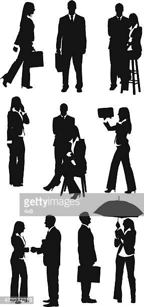 Business professionals working