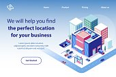 Business Real Estate Online Service Vector Website