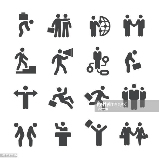business relationship icons - acme series - arm in arm stock illustrations, clip art, cartoons, & icons