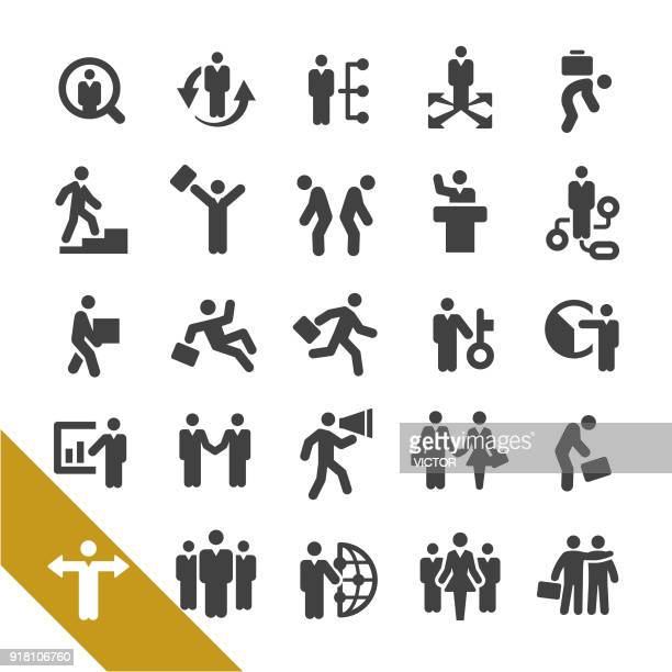 business relationship icons - select series - arm in arm stock illustrations, clip art, cartoons, & icons