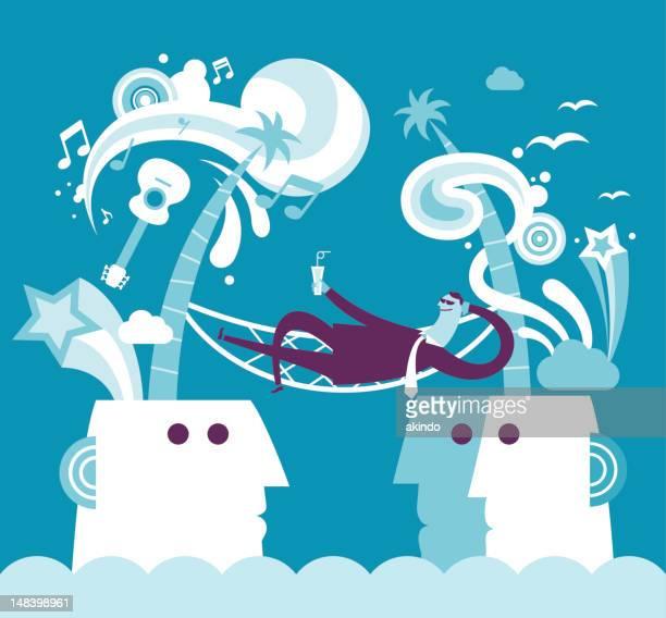 business entspannung konzept - gewerbegebiet stock-grafiken, -clipart, -cartoons und -symbole