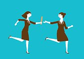 Business Relay Race Baton Passing | New Business Concept