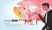 business repair helping business team ver2