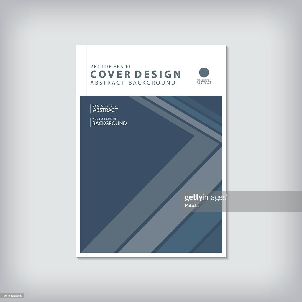 Business report cover and graphic shapes edge vector.