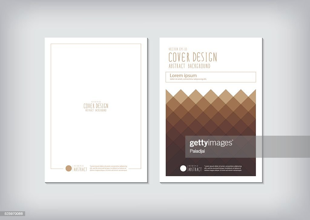 Business report cover and graphic shapes squares vector.