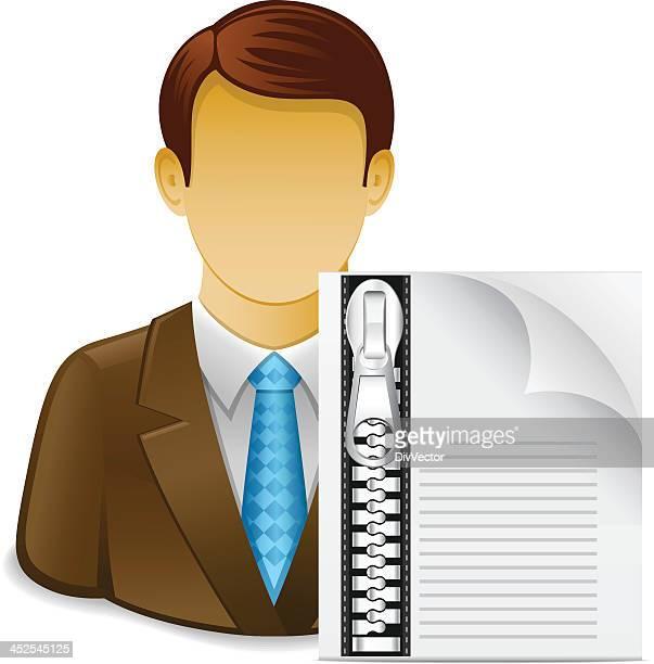 ilustrações, clipart, desenhos animados e ícones de relatório de negócios - office safety