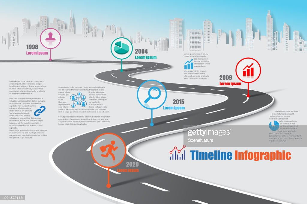 Business road map timeline infographic, Vector Illustration