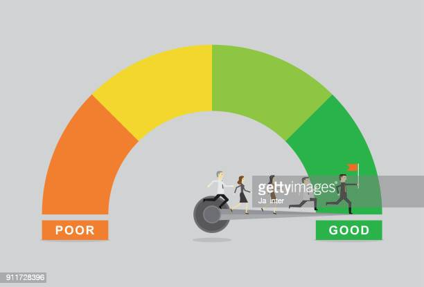 business satisfaction meter - meter instrument of measurement stock illustrations