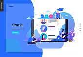 Business series - reviews, web template