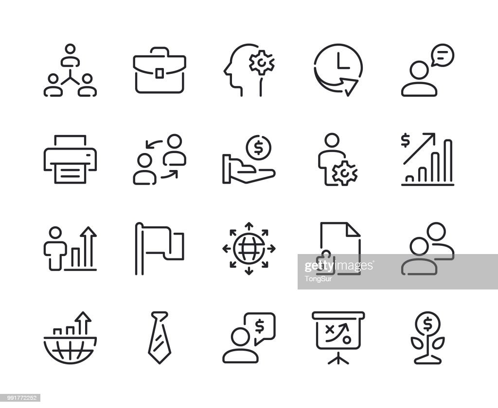 Business - Set 2 Line Icons : stock illustration