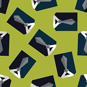 business shirt and tie flat icon,eps10 seamless pattern background