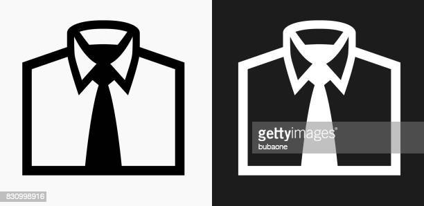 Business Shirt Icon on Black and White Vector Backgrounds