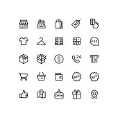 Business & Shopping Outline Icons