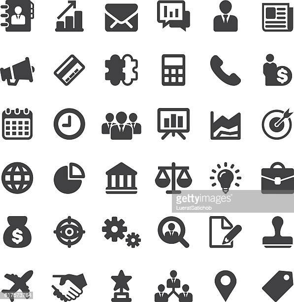 Business Silhouette 36 Icons EPS10