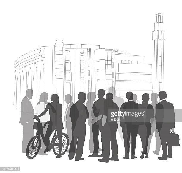Business Silhouette Gathering