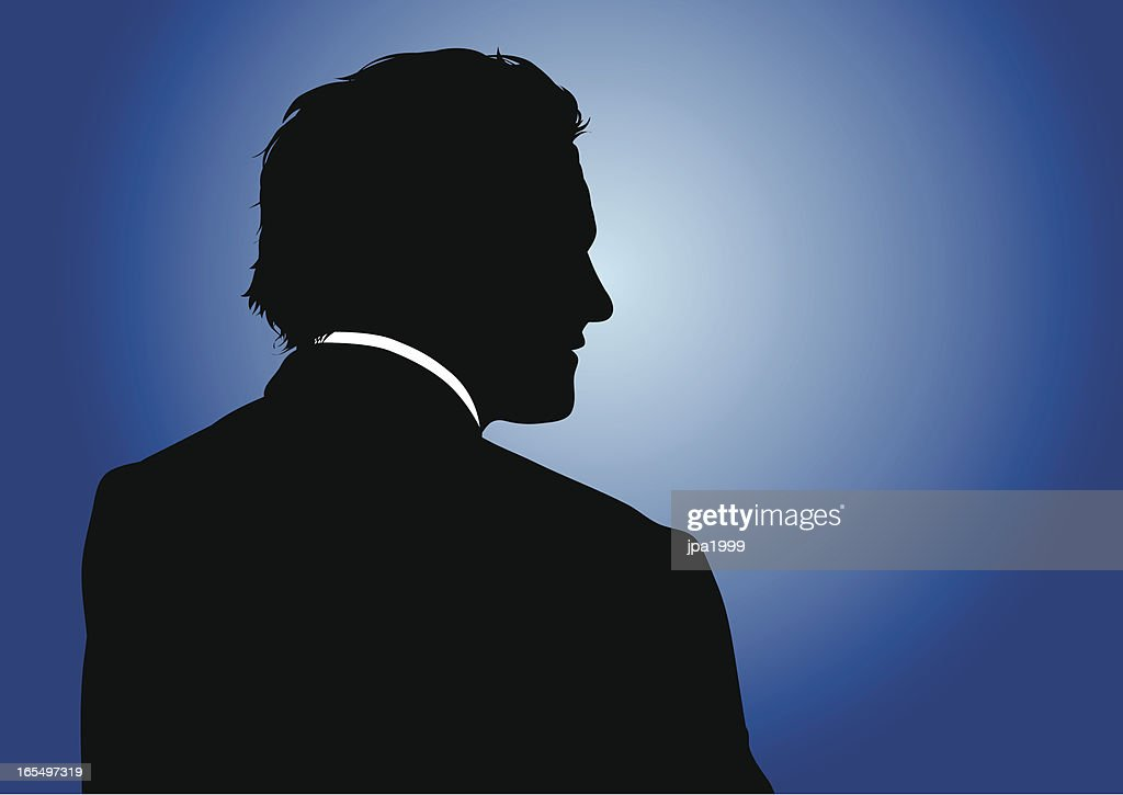 Business silhouette : stock illustration