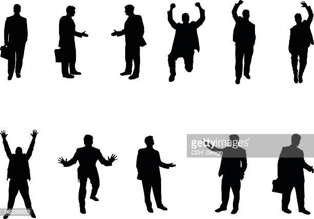 business silhouettes - wall street stock illustrations