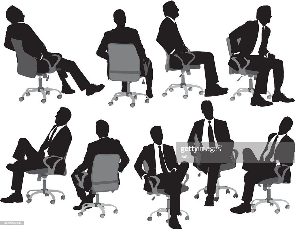 Business auf einem Stuhl sitzend : Stock-Illustration
