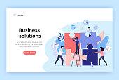 Business solution concept illustration.
