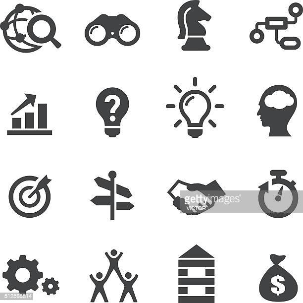 business solution icons - acme series - contemplation stock illustrations, clip art, cartoons, & icons