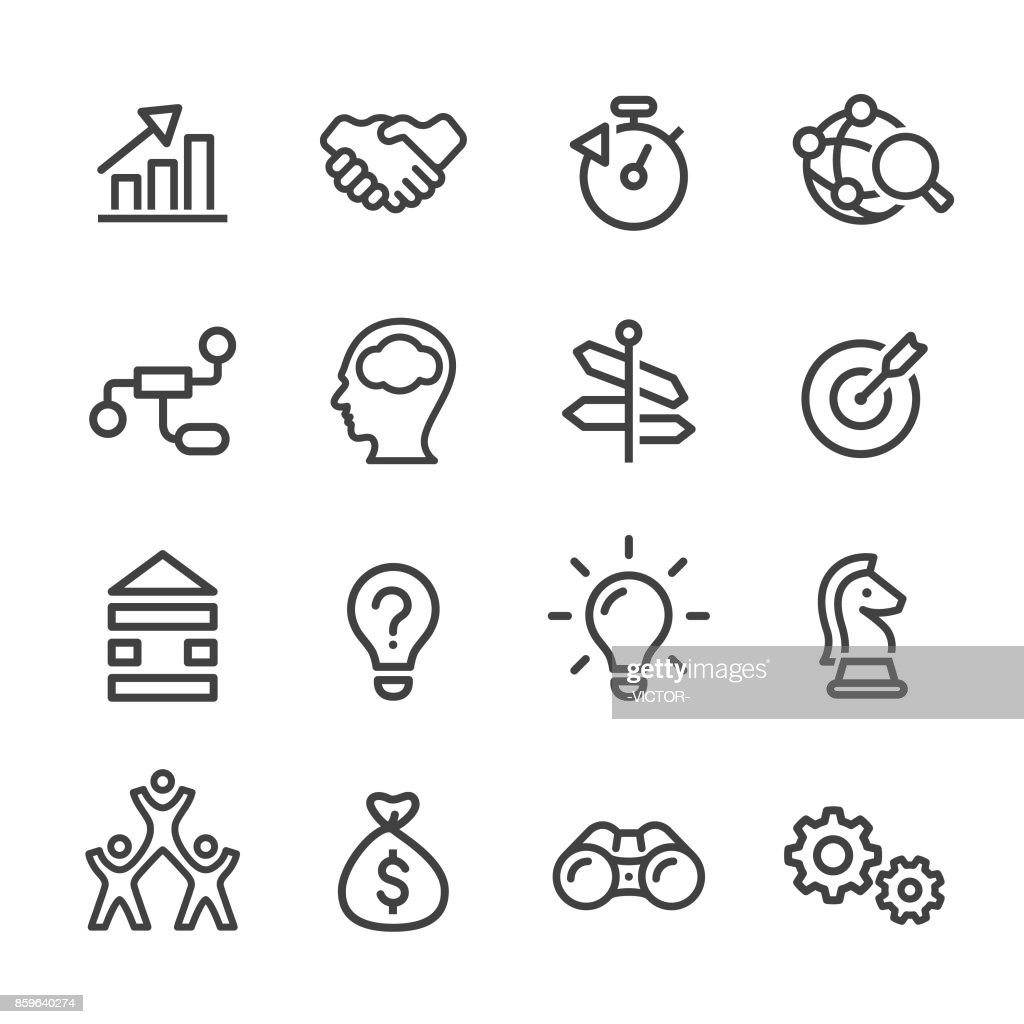 Business Solution Icons - Line Series : stock illustration
