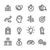 Business Solution Icons - Line Series