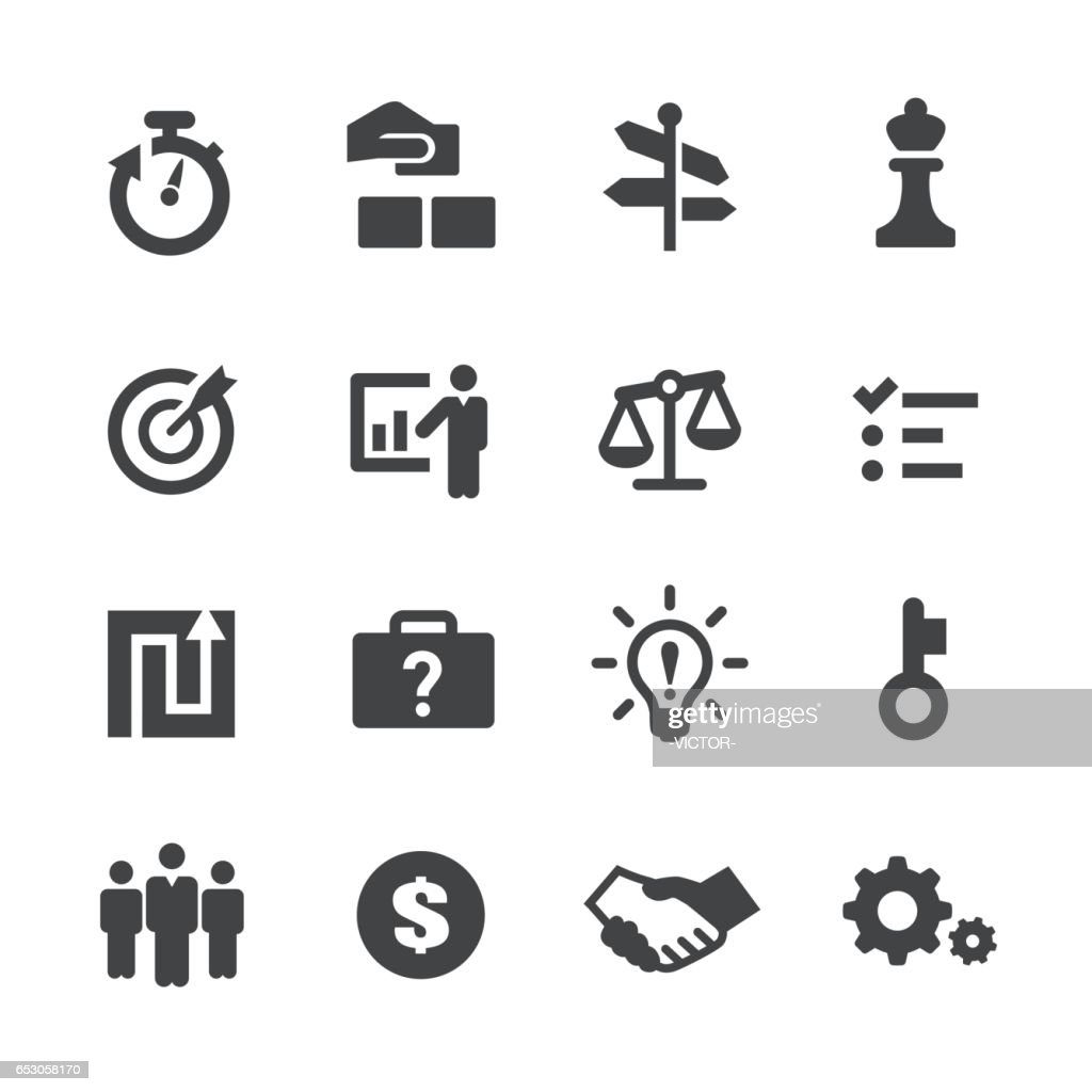Business Solution Icons Set - Acme Series