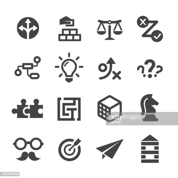 business solution icons set - acme series - bloco stock illustrations