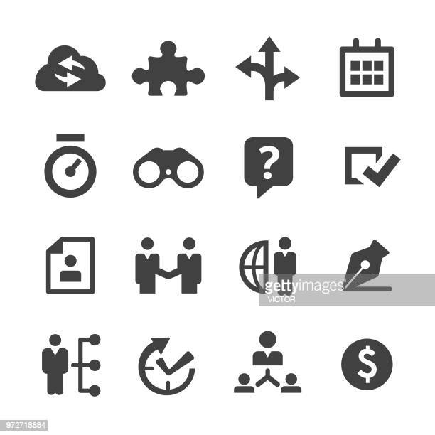 Business Solution Icons Set - Minimal Series