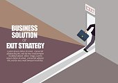 Business solution or exit strategy infographic