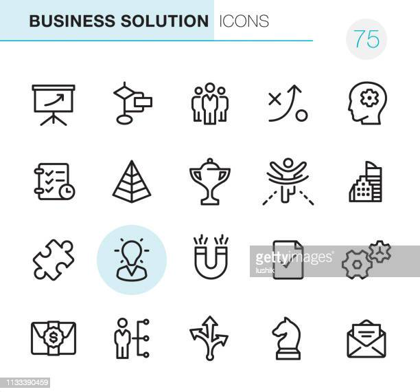 business solution - pixel perfect icons - corporate hierarchy stock illustrations, clip art, cartoons, & icons