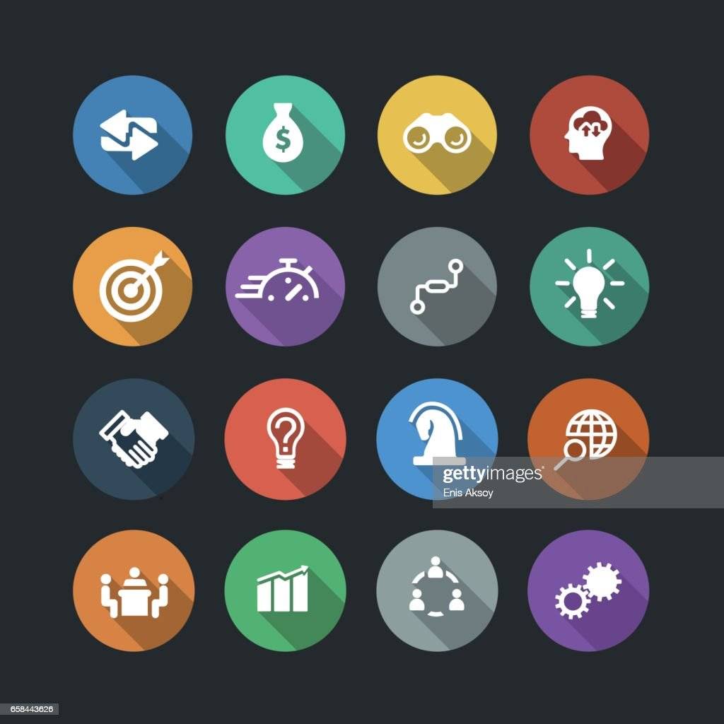 Business Solutions Icons : stock illustration