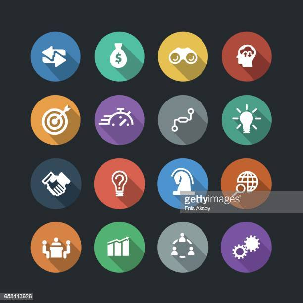 business solutions icons - conspiracy stock illustrations