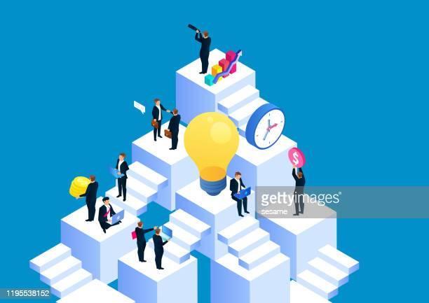 illustrations, cliparts, dessins animés et icônes de espace d'affaires, concept d'entreprise - engagement des employés