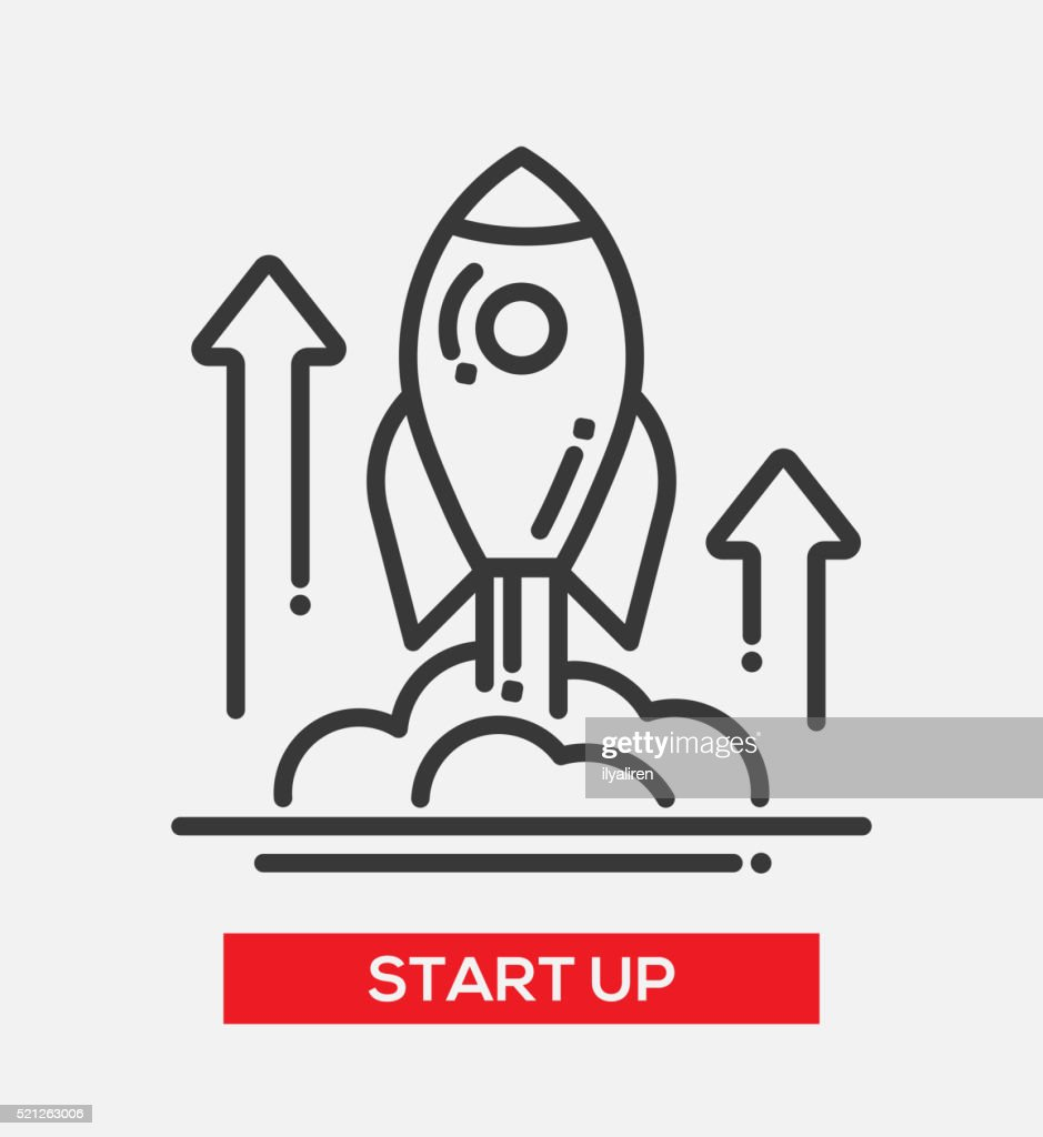 Business start up single icon
