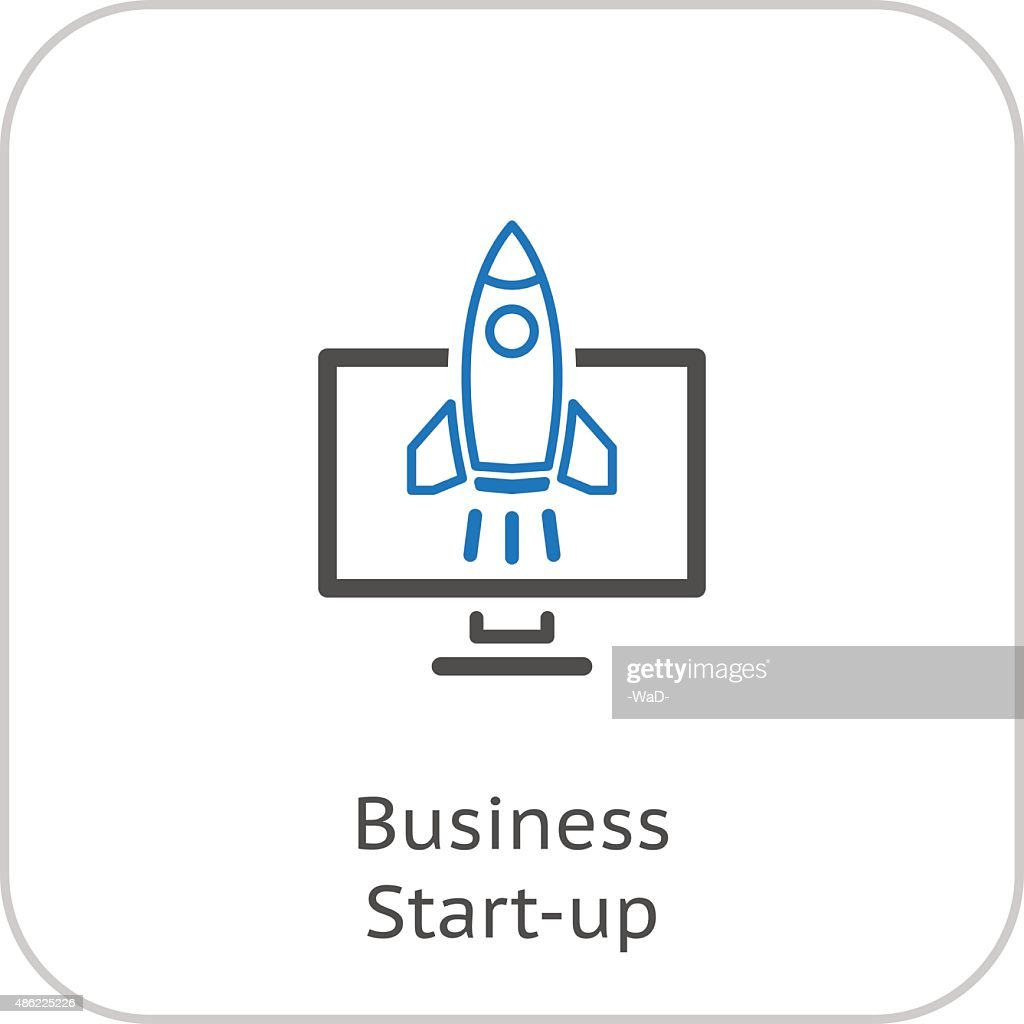 Business Start-up Icon. Concept. Flat Design.