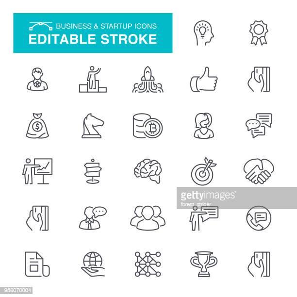 ilustrações, clipart, desenhos animados e ícones de negócios & ícones de inicialização do - portfolio