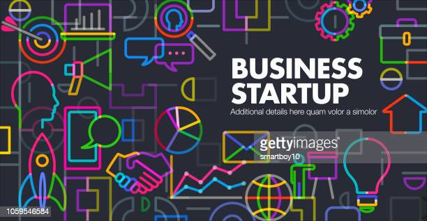 business startup launch - new business stock illustrations