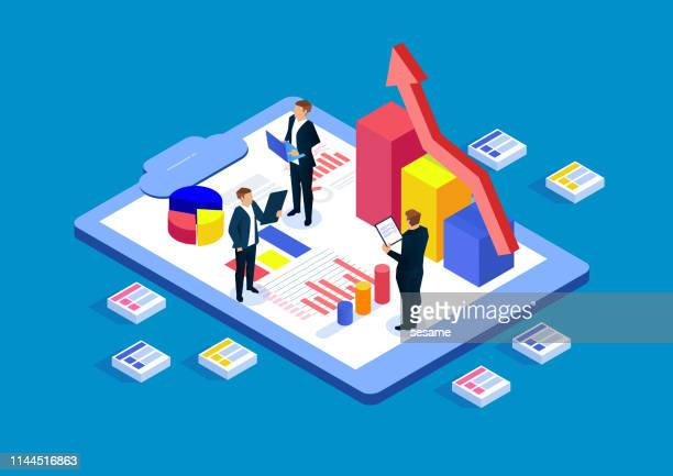 business statistics, financial advisor - exploration stock illustrations