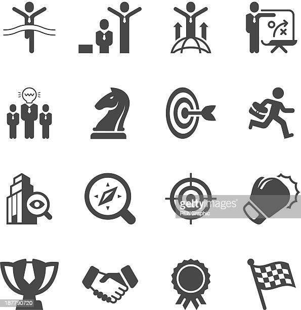 Business-Strategie und Wettbewerb Vektor-icons