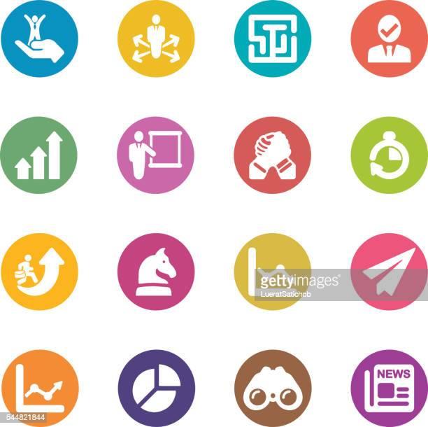 Estratégia de negócio círculo de cor harmonia ícones/EPS10