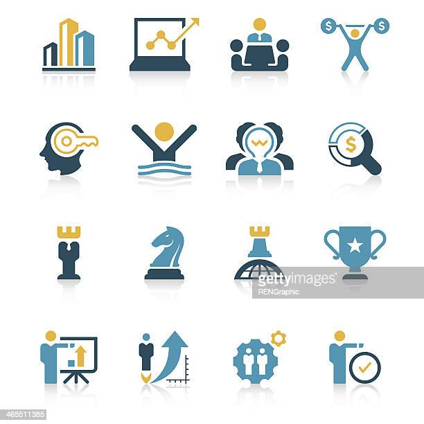 Business Strategy Icon Set | Vivid Series