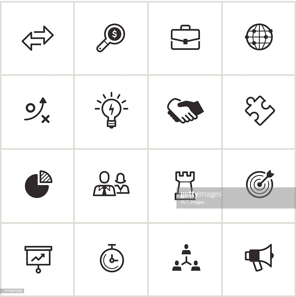 Business Strategy Icons — Inky Series : stock illustration