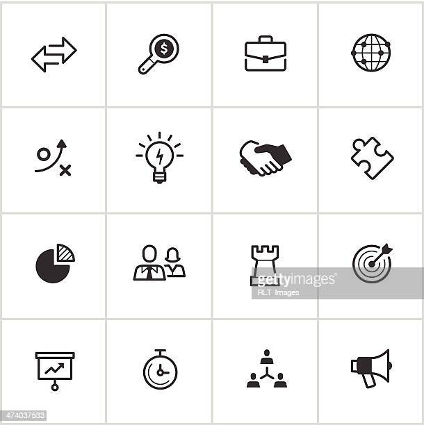 Business Strategy Icons — Inky Series