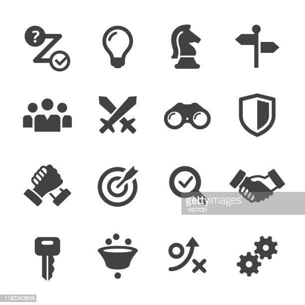 ビジネス戦略アイコンセット - アクメシリーズ - デイフェンス点のイラスト素材/クリップアート素材/マンガ素材/アイコン素材