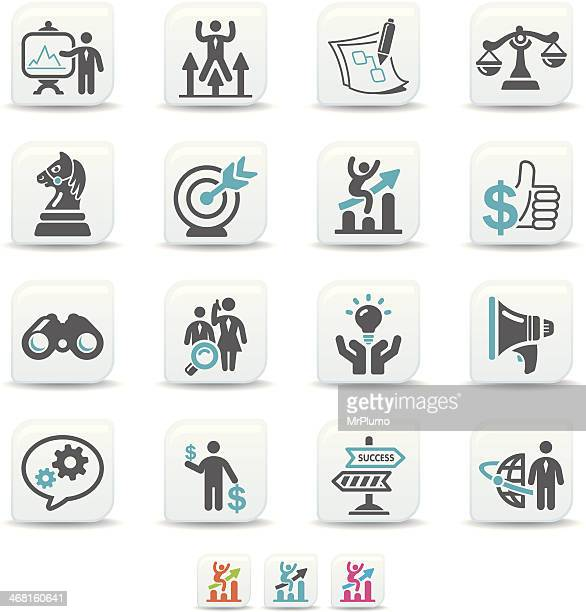 business strategy icons | simicoso collection - accountancy stock illustrations, clip art, cartoons, & icons