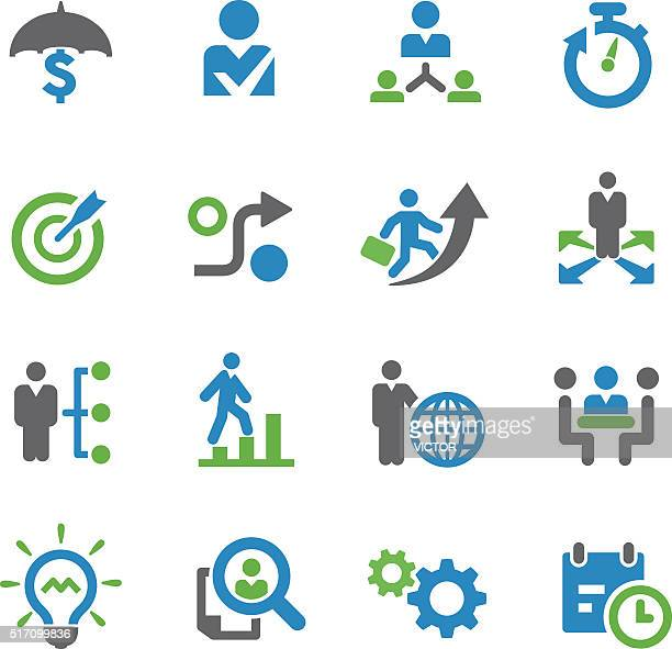 Business-Strategie Icons-Spry Serie