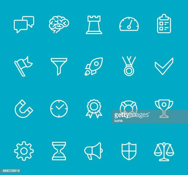 Business Strategy - line icon set
