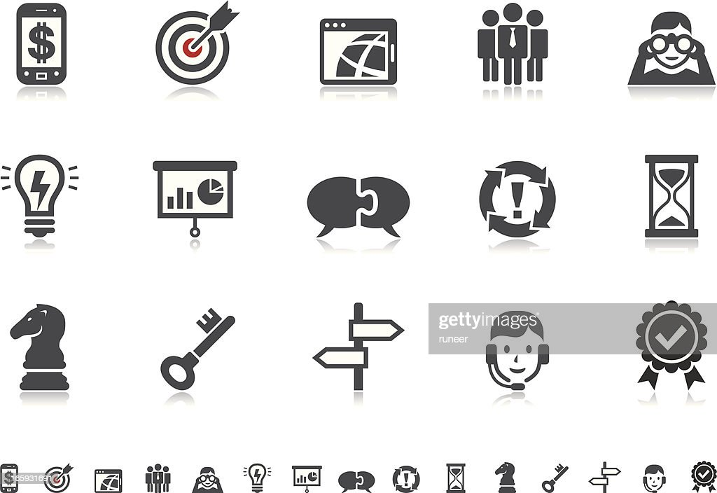 Business Strategy & Management icons | Pictoria series : stock illustration
