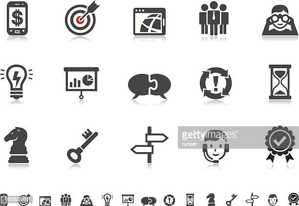Business Strategy & Management icons | Pictoria series